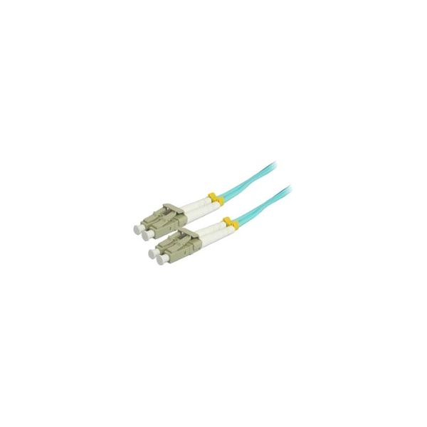 Comprehensive 3M 10Gb LC/LC Duplex 50/125 Multimode Fiber Patch Cable - Aqua
