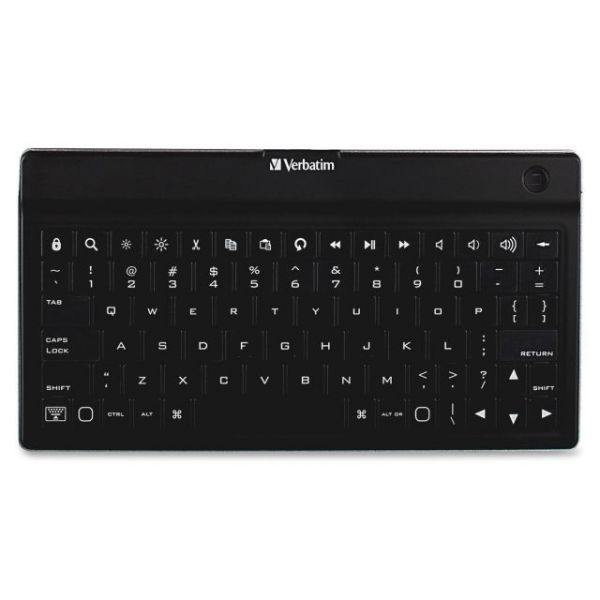 Verbatim Bluetooth Wireless Ultra-Slim Mobile Keyboard - Black