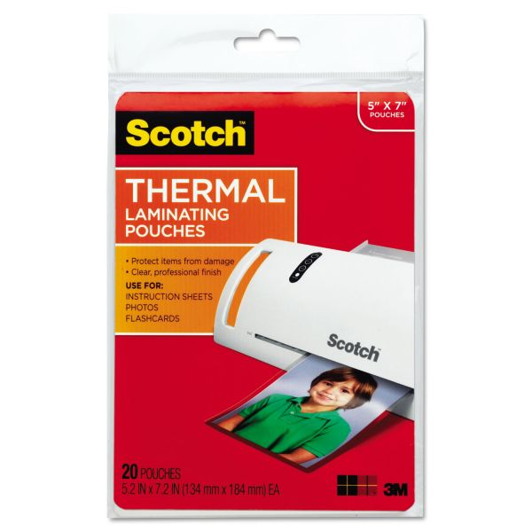 Scotch Thermal Photo Laminating Pouches