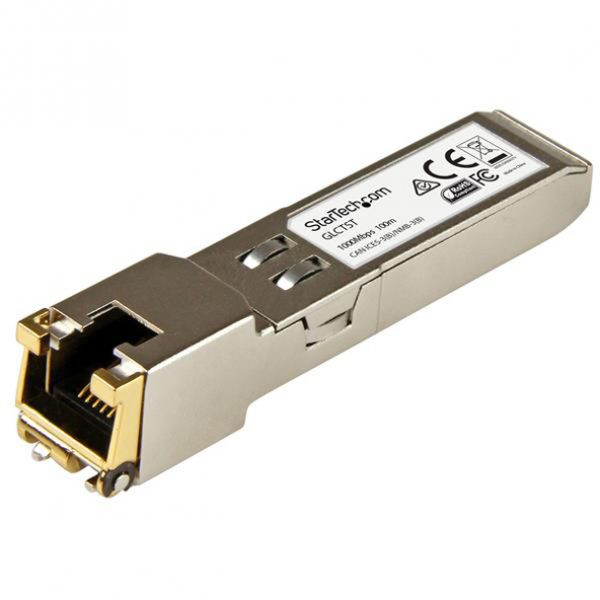 StarTech.com Gigabit RJ45 Copper SFP Transceiver Module - Cisco GLC-T Compatible SFP - 1000Base-T - Mini-GBIC