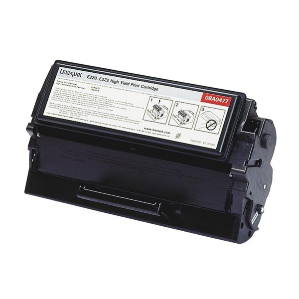Lexmark 08A0477 Black High Yield Toner Cartridge