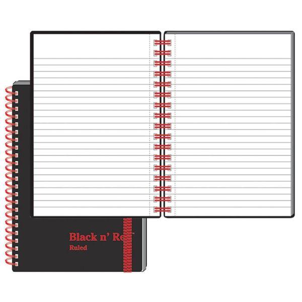 Black n' Red Wirebnd Semi-rigid Cover Ruled Ntbook