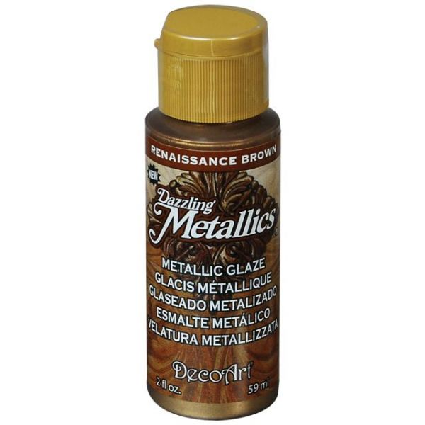 Deco Art Renaissance Brown Dazzling Metallic Glaze