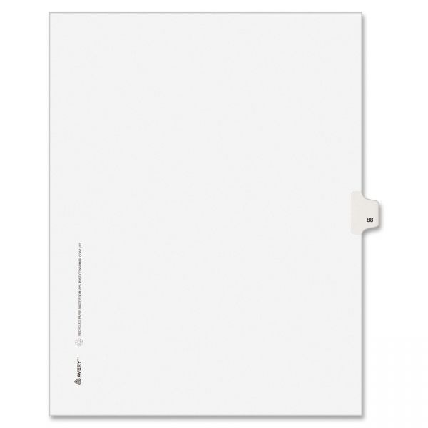 Avery Individually Numbered Legal Index Dividers