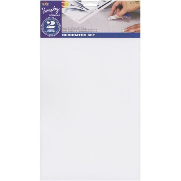 "Simply Stencils Value Pack 10""X18"" & 8""X10"" 2/Pkg"
