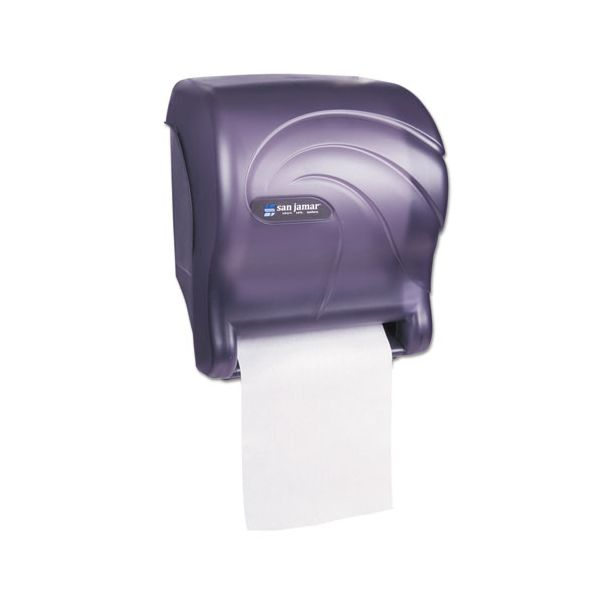 San Jamar Tear-N-Dry Essence Touchless Towel Dispenser, 11.75x9 1/8x14 7/16, Black Pearl