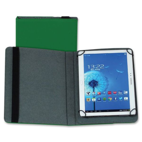 "Samsill Carrying Case (Folio) for 10"" Tablet - Green"