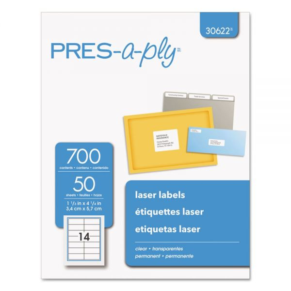 Avery Pres-A-Ply Clear Address Labels
