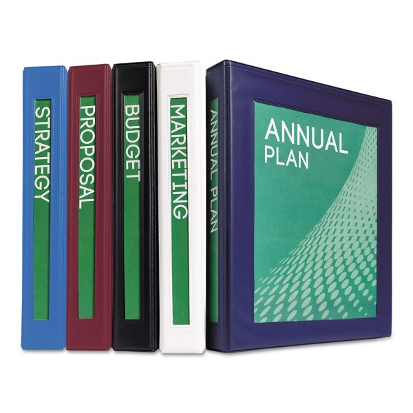 "Avery Framed View Heavy-Duty 3-Ring Binder w/Locking 1-Touch EZD Rings, 1"" Capacity, Navy Blue"