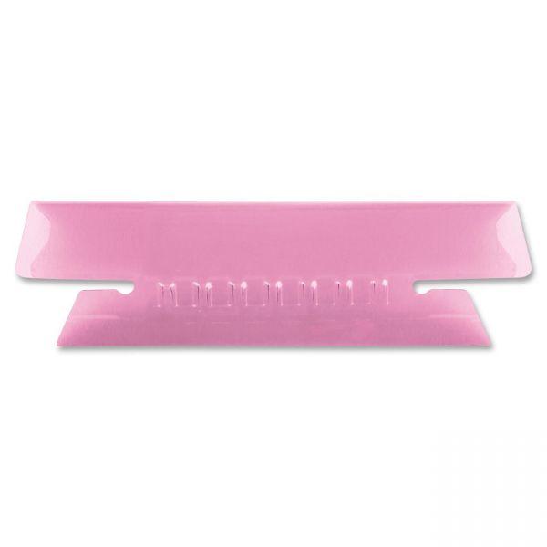 Pendaflex Hanging File Folder Tabs, 1/3 Tab, 3 1/2 Inch, Pink Tab/White Insert, 25/Pack