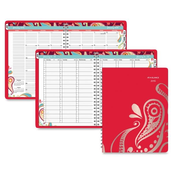 At-A-Glance Playful Paisley Weekly/Monthly Appt Book