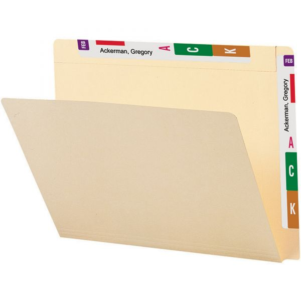 Smead 24190 Manila Conversion Folder with Reinforced Top Tab and End Tab