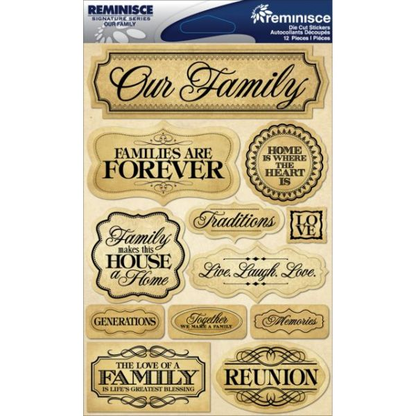 "Signature Dimensional Stickers 4.5""X6"" Sheet"
