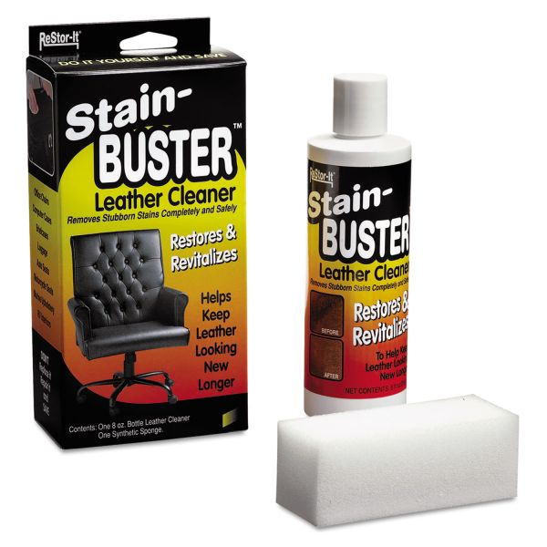 Master Caster Leather Cleaner with Synthetic Sponge