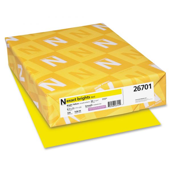 Exact Brights Colored Paper - Bright Yellow