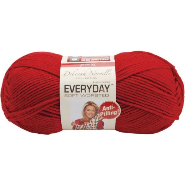 Deborah Norville Collection Everyday Soft Worsted Yarn - Really Red