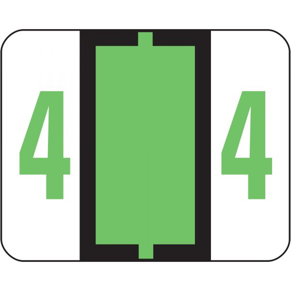 Smead BCCRN Bar-Style Color-Coded Numeric Label - 4