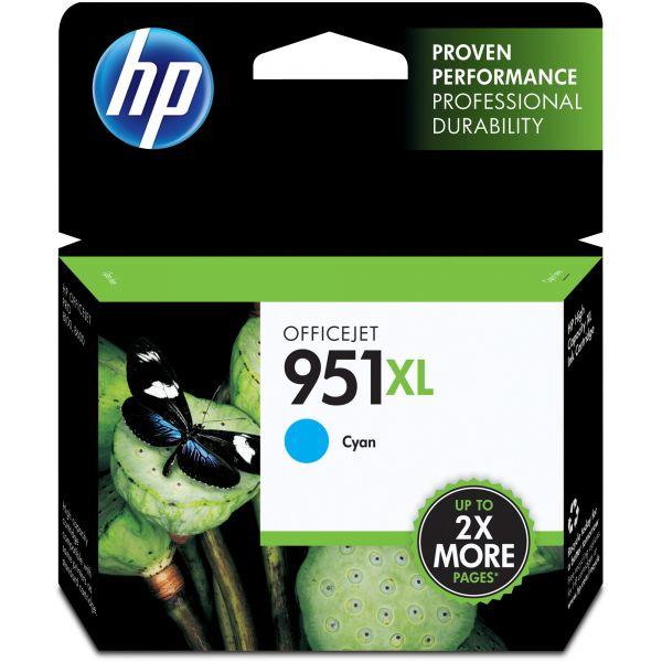HP 951XL High Yield Cyan Ink Cartridge (CN046AN)