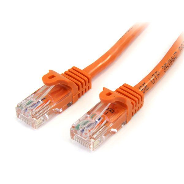 StarTech.com 75 ft Cat5e Orange Snagless RJ45 UTP Cat 5e Patch Cable - 75ft Patch Cord