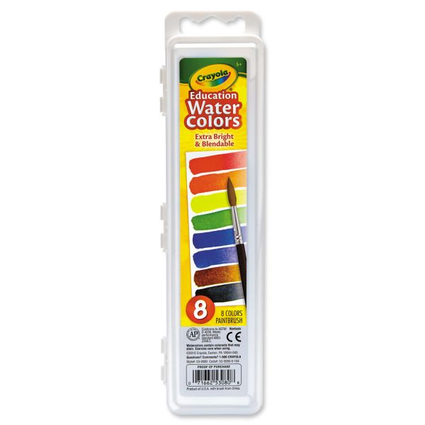Crayola Watercolors, 8 Assorted Colors