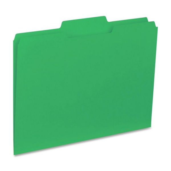 Business Source Green Colored File Folders