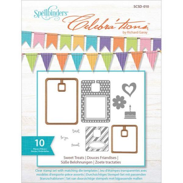 Spellbinder's Celebra'tions Dies W/Stamps 10/Pkg