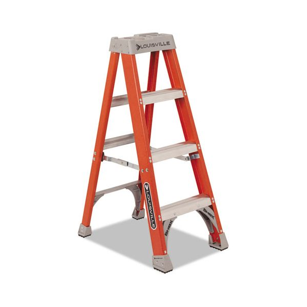 Louisville 3-Step Heavy Duty Fiberglass Step Ladder