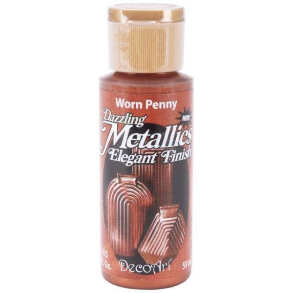 Deco Art Worn Penny Dazzling Metallics Acrylic Paint