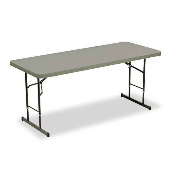 Iceberg IndestrucTable Too Adjustable Height Rectangular Folding Table