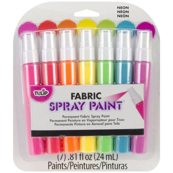 Tulip Fabric Spray Paint Mini Pack .81oz 7/Pkg