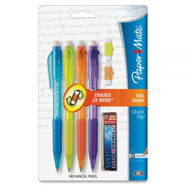 Paper Mate Quick Flip 0.7 Mechanical Pencils
