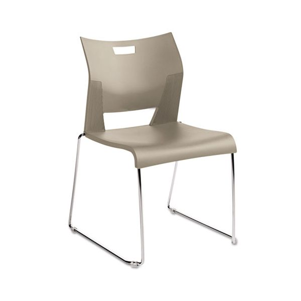 Global Duet Series Plastic Stacking Chairs