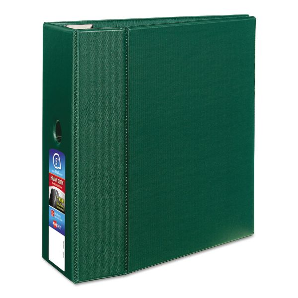 "Avery Heavy-Duty 3-Ring Binder with One Touch EZD Rings, 5"" Capacity, Green"