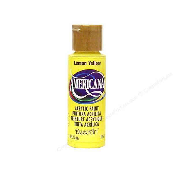 Deco Art Americana Lemon Yellow Acrylic Paint