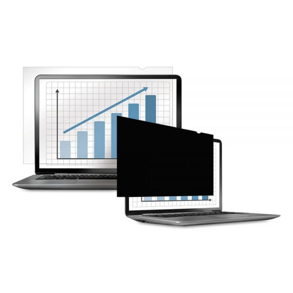 "Fellowes PrivaScreen Blackout Privacy Filter for 13.3"" Widescreen LCD/Notebook, 16:10"