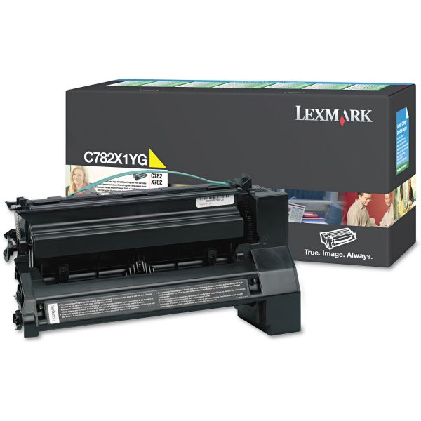 Lexmark C782X1YG Yellow Extra High Yield Return Program Toner Cartridge