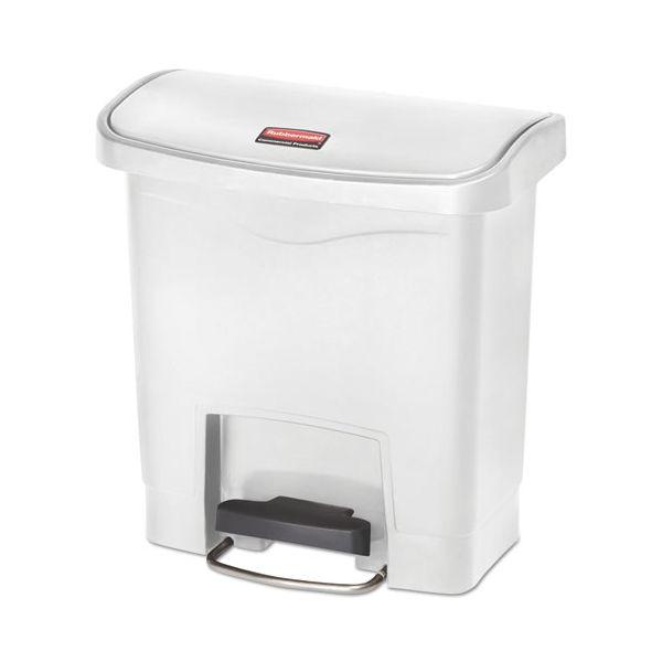 Rubbermaid Slim Jim Resin Step-On 4 Gallon Trash Can