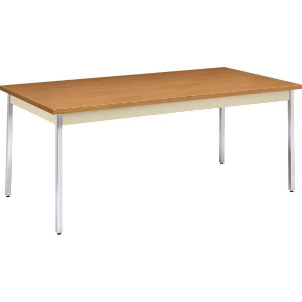 HON Utility Table, Rectangular, 72w x 36d x 29h, Harvest/Putty