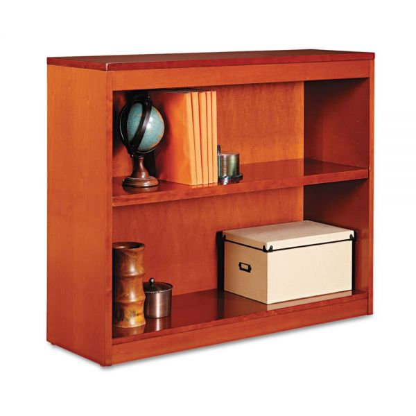 Alera Square Corner 2-Shelf Wood Veneer Bookcase