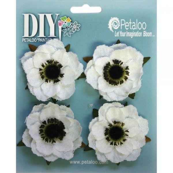 """DIY Paintables Canvas Anemone Flowers 2"""" 4/Pkg"""