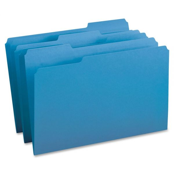 Business Source Blue Colored File Folders