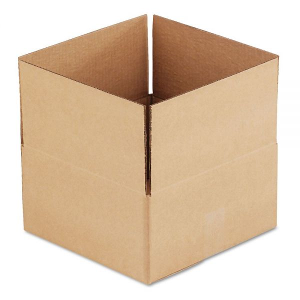 General Supply Brown Corrugated - Fixed-Depth Shipping Boxes, 12l x 12w x 6h, 25/Bundle