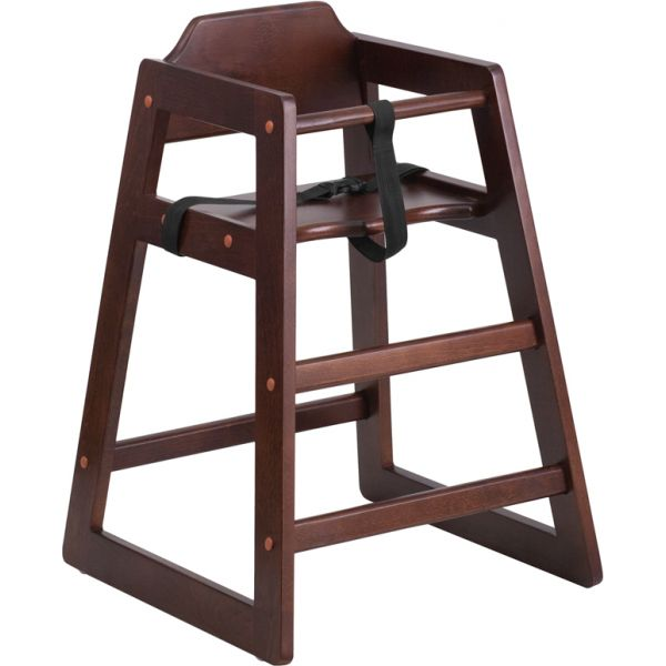 Flash Furniture HERCULES Series Stackable Walnut Baby High Chair