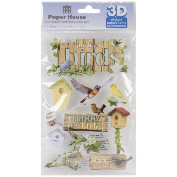 """Paper House 3D Stickers 4.5""""x8.5"""""""