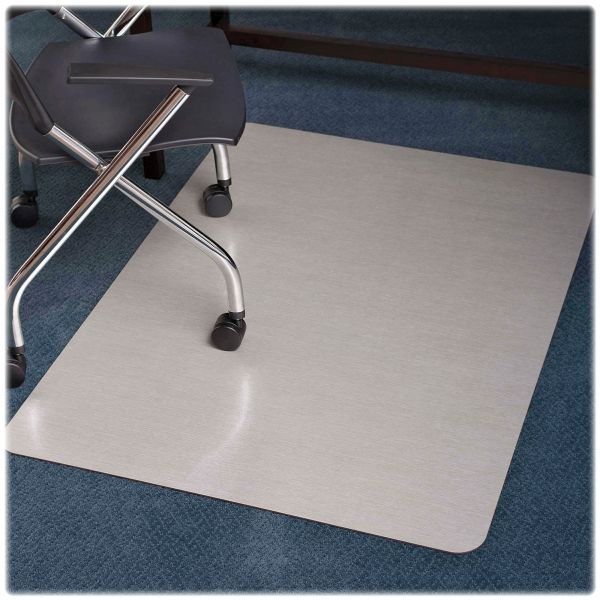 E.S. Robbins Design Series Brushed Stainless Steel Laminate Chair Mat