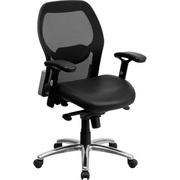 Flash Furniture Mid-Back Super Mesh Office Chair with Knee Tilt Control