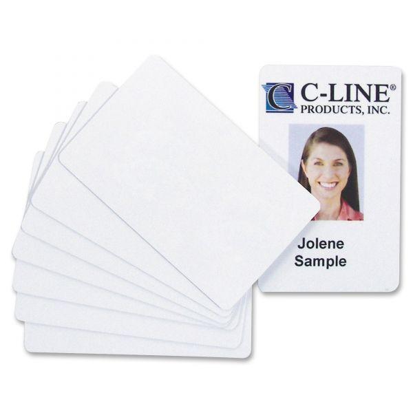 C-Line PVC ID Badge Card, 3 3/8 x 2 1/8, White, 100/Pack