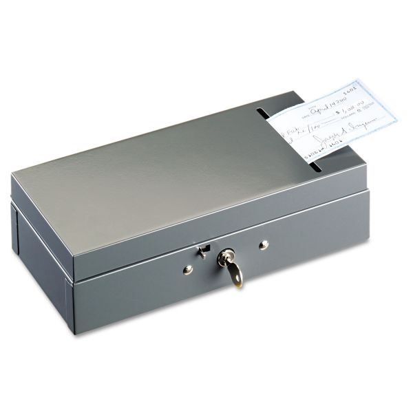 SteelMaster Steel Bond Box with Check Slot, Disc Lock, Gray