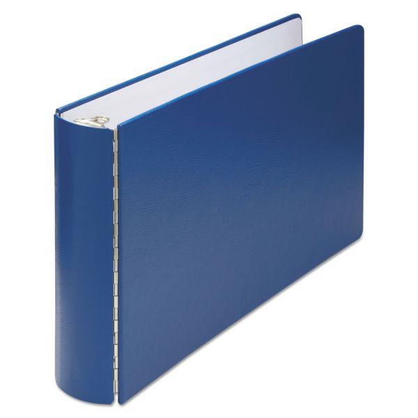 "Wilson Jones 11 x 17 Casebound 3-Ring Binder, 2"" Capacity, Round Ring, Blue"