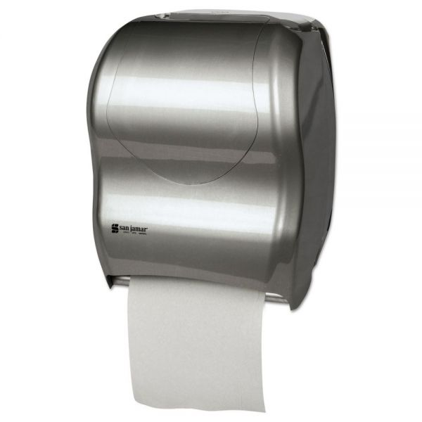 San Jamar Tear-N-Dry Touchless Roll Towel Dispenser, 16 3/4 x 10 x 12 1/2, Silver